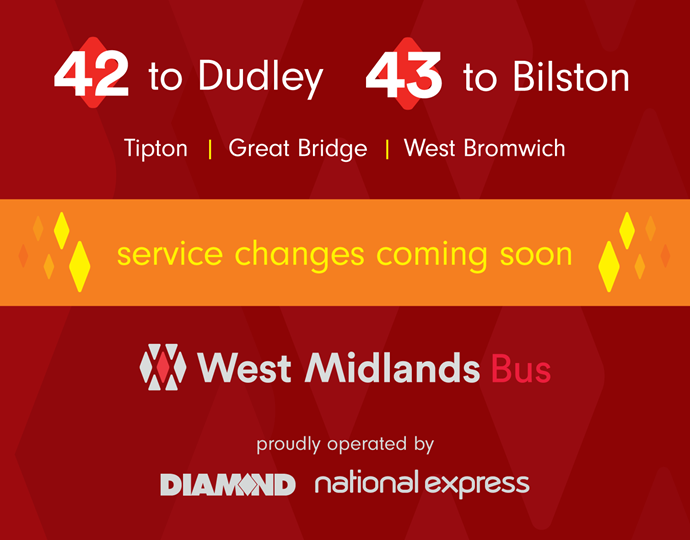 Changes to 42 and 43 services from Sunday 19th August